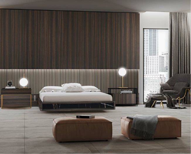 Dormitorio moderno y sencillo