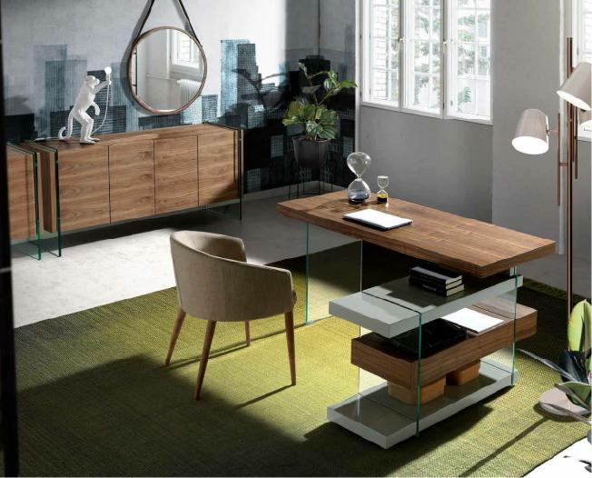 escritorio moderno de madera